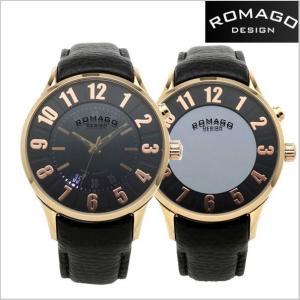 ROMAGO DESIGN ロマゴデザイン 腕時計 NUMERATION (ヌメレーション)ミラーウォッチ 牛革ベルト/ローズゴールド文字盤 ユニセックス・ボーイズ RM068-0053ST-RG|bellmart