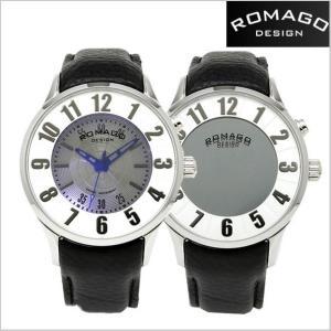 ROMAGO DESIGN ロマゴデザイン 腕時計 NUMERATION (ヌメレーション)ミラーウォッチ 牛革ベルト/ホワイト文字盤 ユニセックス・ボーイズサイズ RM068-0053ST-SV|bellmart