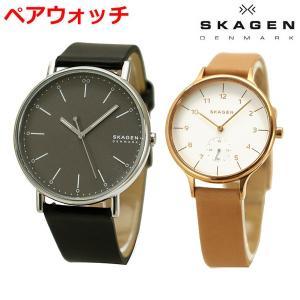 スカーゲン SKAGEN 腕時計 ペアウォッチ(2本セット) SIGNATUR シグネチャー メンズ & ANITA アニタ レディース SKW6528 SKW2405|bellmart