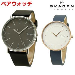 スカーゲン SKAGEN 腕時計 ペアウォッチ(2本セット) SIGNATUR シグネチャー メンズ & GITTE ギッテ レディース SKW6528 SKW2810|bellmart
