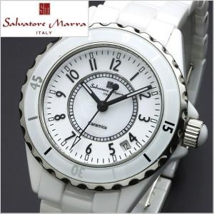 サルバトーレマーラ SALVATORE MARRA メンズ腕時計 セラミック/ホワイト・アラビア数字 SM15120-WHA|bellmart