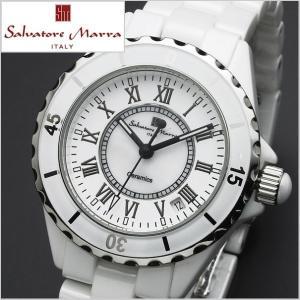 サルバトーレマーラ SALVATORE MARRA メンズ腕時計 セラミック/ホワイト・ローマ数字 SM15120-WHR|bellmart