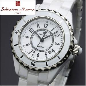 サルバトーレマーラ SALVATORE MARRA レディース腕時計 セラミック/ホワイト・アラビア数字 SM15151-WHA|bellmart