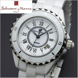 サルバトーレマーラ SALVATORE MARRA レディース腕時計 セラミック/ホワイト・ローマ数字 SM15151-WHR|bellmart