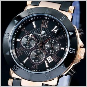サルバトーレマーラ メンズ腕時計 ピンクゴールド/ブラックIP SM7019-PGBK|bellmart