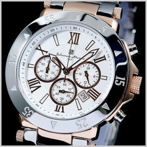 サルバトーレマーラ メンズ腕時計 ピンクゴールド/ホワイト SM7019-PGWH|bellmart