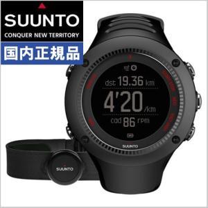 スント SUUNTO アンビット3 ラン ブラック HR AMBIT3 RUN BLACK HR 心拍ベルト付モデル SS021257000|bellmart