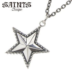 SAINTS Design セインツ デザイン スターネックレス/ペンダント シルバー925製 メンズ レディース/ユニセックス SSP-701|bellmart