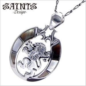 SAINTS Design セインツ デザイン KINGシェルクロスペンダント/ネックレス シルバー925製 SSP9-118|bellmart