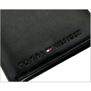 TOMMY HILFIGER(トミーヒルフィガー)二つ折り財布・小銭入れ付(ブラック) 31TL25X005-001|bellmart|02