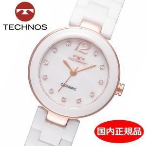 テクノス TECHNOS 腕時計 レディース セラミック TSL613PW|bellmart