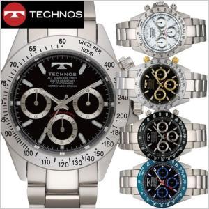 テクノス TECHNOS 腕時計 クロノグラフ メンズ TSM401|bellmart