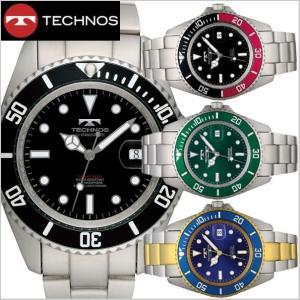 テクノス TECHNOS 腕時計 10気圧防水ダイバー メンズ TSM402|bellmart
