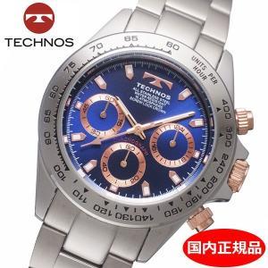 テクノス TECHNOS 腕時計 メンズ クロノグラフ 10気圧防水 TSM411PN|bellmart