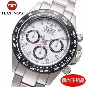 テクノス TECHNOS 腕時計 メンズ クロノグラフ 10気圧防水 TSM411TW|bellmart
