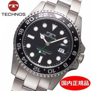テクノス TECHNOS 腕時計 10気圧防水ダイバー メンズ TSM412SB|bellmart