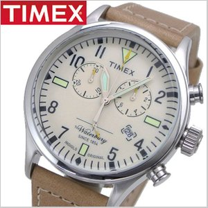 TIMEX タイメックス 腕時計 メンズ WATERBURY S.B.FOOT LEATHER CHRONO ウォーターベリー S.B.フットレザー クロノグラフ RED WING レッドウィング TW2P84200 bellmart