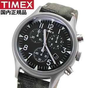 TIMEX タイメックス 腕時計 メンズ MK1 スチール クロノグラフ インディグロナイトライト搭載 ファブリックベルト TW2R68600|bellmart
