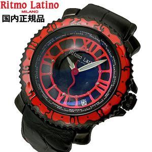 リトモラティーノ  Ritmo Latino  腕時計 ビアッジョ/機械式・自動巻き ブラック x レッド文字盤/裏スケルトン VA-35BK bellmart