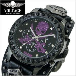 VOLTAGE ヴォルテージ メンズ腕時計 SENTINEL IV (センチネル 4) ブラック× バイオレット VO-013IV BPU-02/B|bellmart