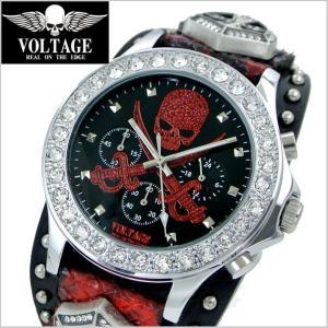 VOLTAGE ヴォルテージ メンズ腕時計 SENTINEL IV (センチネル 4) ブラック × レッド VO-013IV SRD-02/B|bellmart