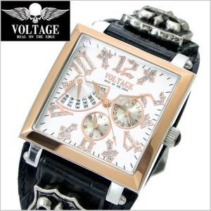 VOLTAGE ヴォルテージ メンズ腕時計 REQUIEM II (レクイエム 2)ホワイト× ローズゴールド VO-117RG-01/|bellmart