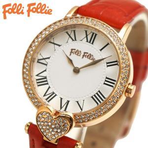 フォリフォリ FOLLI FOLLIE 腕時計 レディース/女性用 ローズゴールド x レッド WF13B038SPS-RE|bellmart