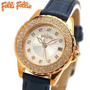 フォリフォリ FOLLI FOLLIE 腕時計 レディース/女性用 ローズゴールド x ネイビー WF13B071STS-DB|bellmart
