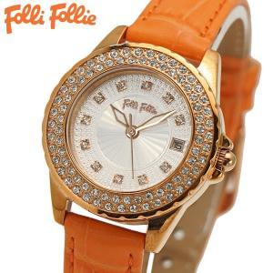 フォリフォリ FOLLI FOLLIE 腕時計 レディース/女性用 ローズゴールド x オレンジ WF13B071STS-OR|bellmart