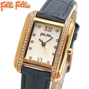 フォリフォリ FOLLI FOLLIE 腕時計 レディース/女性用 ローズゴールド x ネイビー WF14B026SSS-BL|bellmart