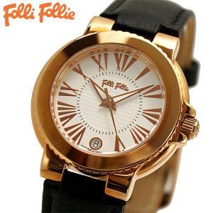 フォリフォリ FOLLI FOLLIE 腕時計 レディース/女性用 ローズゴールド x ブラック WF15R002SDS-BK|bellmart