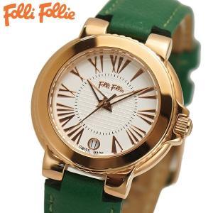 フォリフォリ FOLLI FOLLIE 腕時計 レディース/女性用 ローズゴールド x グリーン WF15R002SDS-GR|bellmart