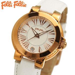 フォリフォリ FOLLI FOLLIE 腕時計 レディース/女性用 ローズゴールド x ホワイト WF15R002SDS-WH|bellmart