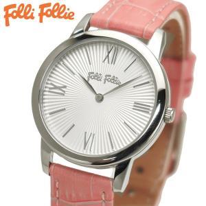 フォリフォリ FOLLI FOLLIE 腕時計 レディース/女性用 Match Point シルバー x ピンク WF15T032SPW-PI|bellmart