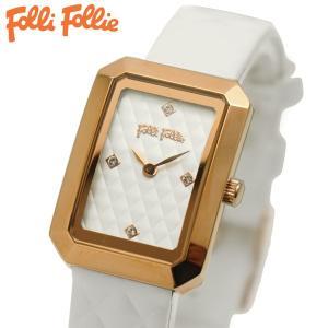 フォリフォリ FOLLI FOLLIE 腕時計 レディース/女性用 ホワイト WF16R026SSW-WH|bellmart