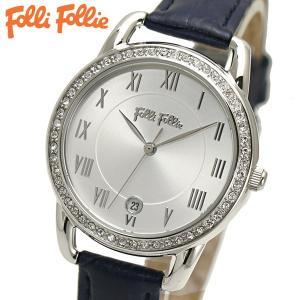 フォリフォリ FOLLI FOLLIE 腕時計 レディース/女性用 Vintage Candy シルバー x ネイビー WF17A016SDS-BL|bellmart