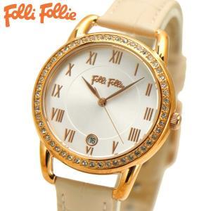 フォリフォリ FOLLI FOLLIE 腕時計 レディース/女性用 Vintage Candy ローズゴールド x ベージュ WF17B016SDS-PI|bellmart