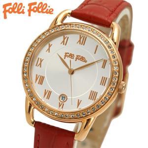 フォリフォリ FOLLI FOLLIE 腕時計 レディース/女性用 Vintage Candy ローズゴールド x レッド WF17B016SDS-RE|bellmart