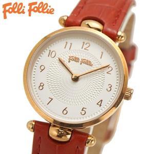 フォリフォリ FOLLI FOLLIE 腕時計 レディース/女性用 ローズゴールド x レッド WF17R014SSS-DR|bellmart