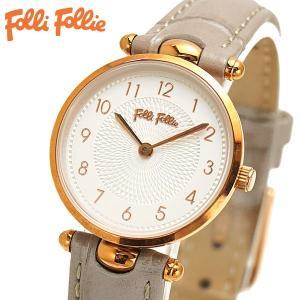 フォリフォリ FOLLI FOLLIE 腕時計 レディース/女性用 ローズゴールド x グレー WF17R014SSS-GA|bellmart
