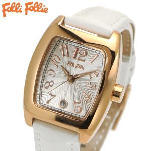 フォリフォリ FOLLI FOLLIE 腕時計 レディース/女性用 ローズゴールド x ホワイト WF5R080SDS-WH|bellmart