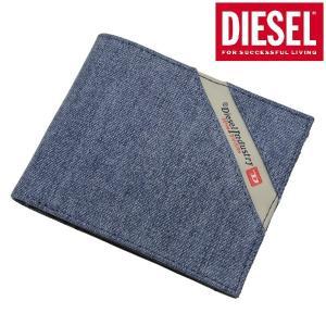 ディーゼル DIESEL 二つ折り財布 ショートウォレット デニム メンズ X05268 PS778 H3820 bellmart