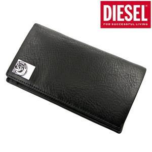 ディーゼル DIESEL 長財布 ミディアムウォレット 本革 ブラック メンズ モヒカン X05343 PR480 T8013 bellmart