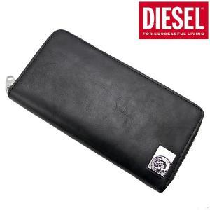 ディーゼル DIESEL 長財布 ラウンドファスナーウォレット 本革 ブラック モヒカン メンズ X05344 PR480 T8013 bellmart