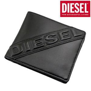 ディーゼル DIESEL 二つ折り財布 ショートウォレット レザー/本革・ブラック メンズ X05368 PR160 T8013 bellmart