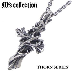 M's collection エムズコレクション ペンダント/ネックレス(チェーン付) THORN BRAMBLE CROSS ソーンシリーズ ブランブルクロス メンズ/レディース XP-015|bellmart