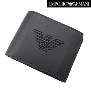 EMPORIO ARMANI (エンポリオ アルマーニ)二つ折り財布・小銭入れ付(レザー/イーグル)小銭入れ付き ショートウォレット Y4R165 YFE6J 81072|bellmart