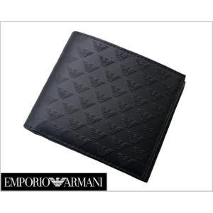 EMPORIO ARMANI (エンポリオ アルマーニ)2つ折財布・小銭入れ付(レザー/イーグル) YEM122 YC043 80001|bellmart