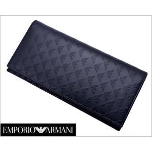 EMPORIO ARMANI (エンポリオ アルマーニ)長財布(レザー/イーグル) 小銭入れ付き YEM474 YC043 80001|bellmart