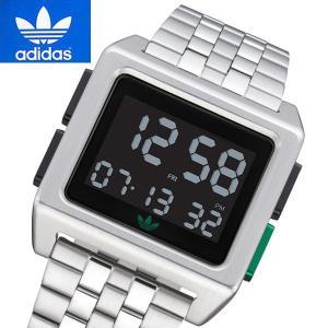 アディダス オリジナルス adidas Originals 腕時計 デジタル ユニセックス/メンズ・レディース Archive_M1 シルバー Z01-3043|bellmart